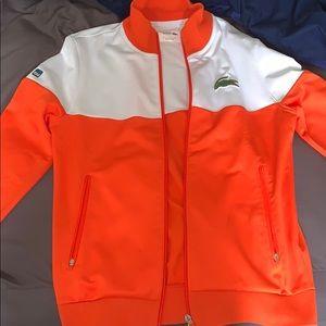 Orange Lacoste jacket